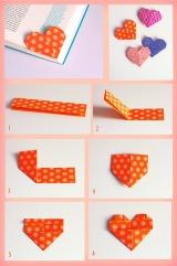 marcador-paginas-origami-formato-coracao
